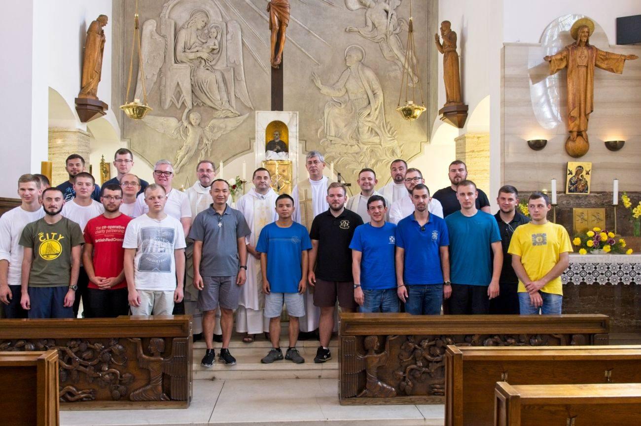 Redemptoristé a studenti z celé Evropy v Tasovicích