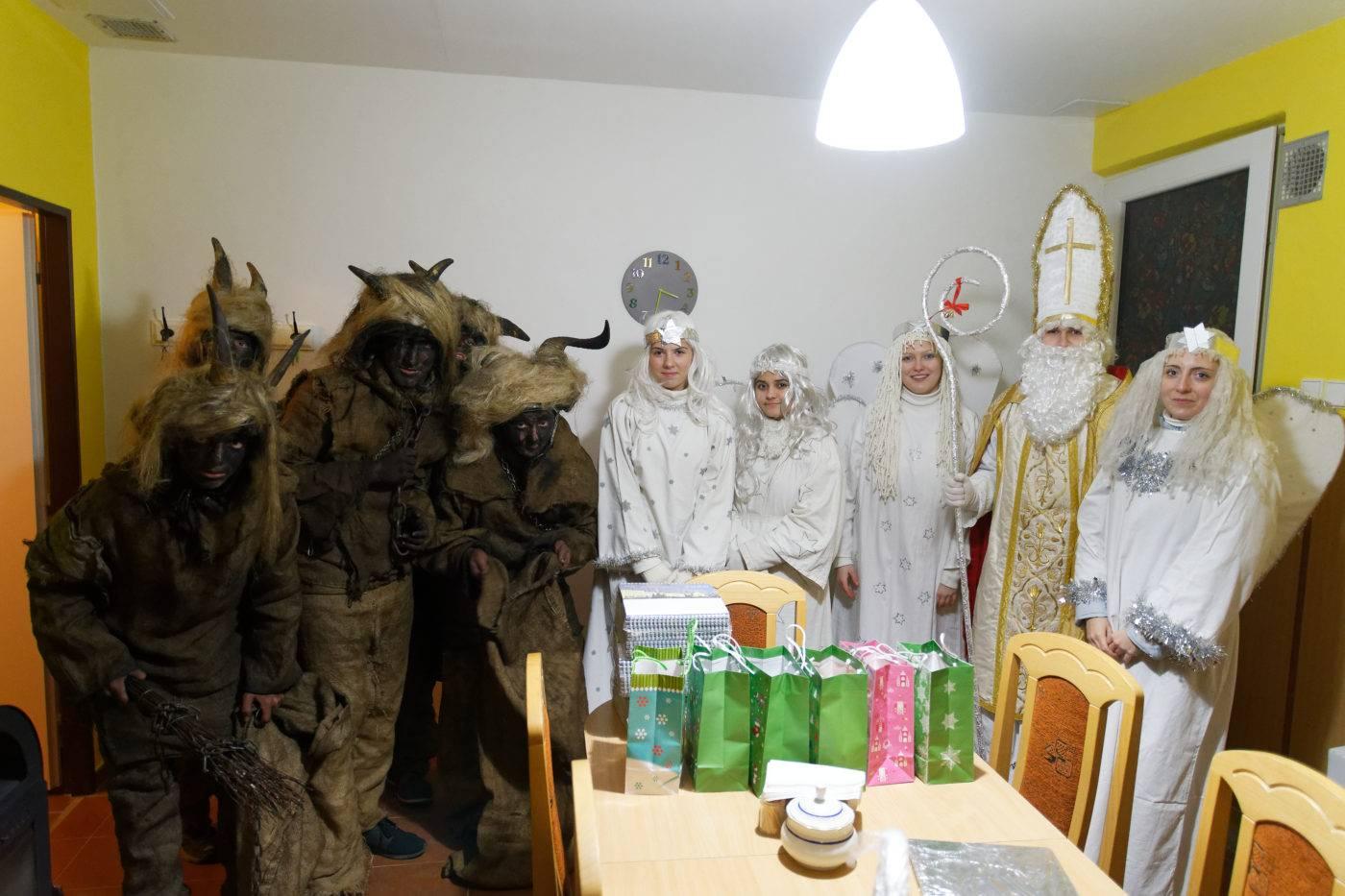 Sv. Mikuláš navštívil klášter redemptoristů v Tasovicích