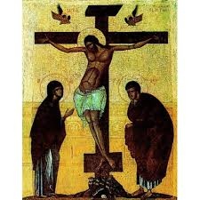 Světlo ukřižovaného Krista zachraňující člověka