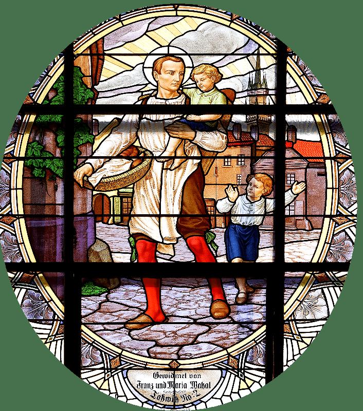 Mládí sv. Klementa Hofbauera - poutník a pekař
